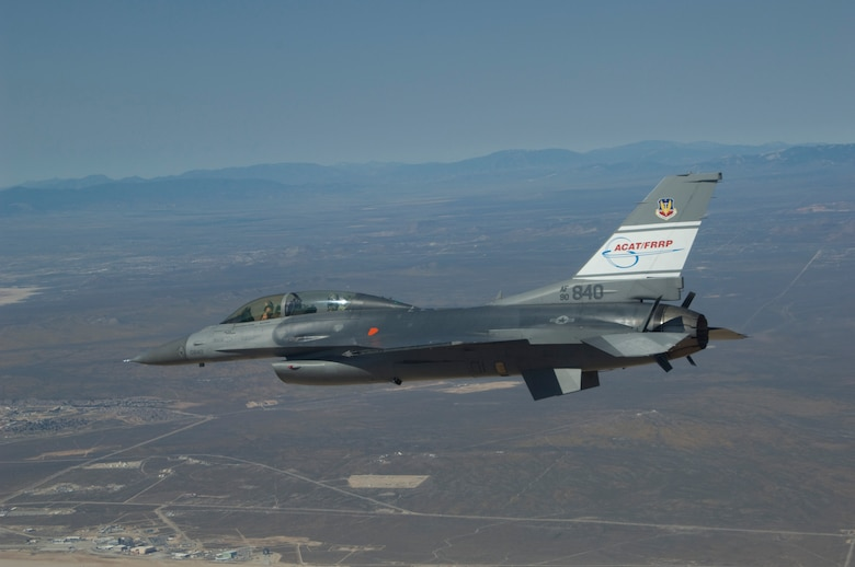 The F-16 test aircraft, shown here flying over Edwards AFB, Calif., proved the Automatic Ground Collision Avoidance System technology was ready to install on F-16s in the field.  A low risk, low cost integration effort to begin in mid-2014 will install the system on Block 40 and 50 aircraft.