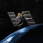GPS Block IIA satellite over the earth