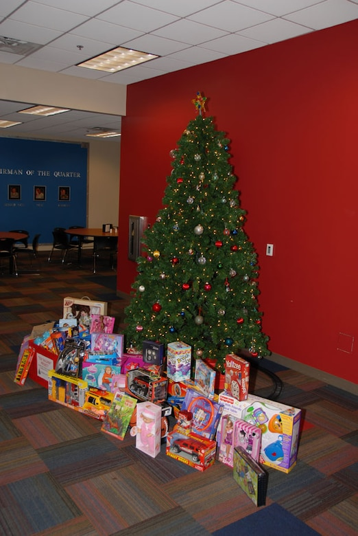 Children's Christmas Gifts collected by the 164th Airlift Wing Project Toy Soldier Campaign