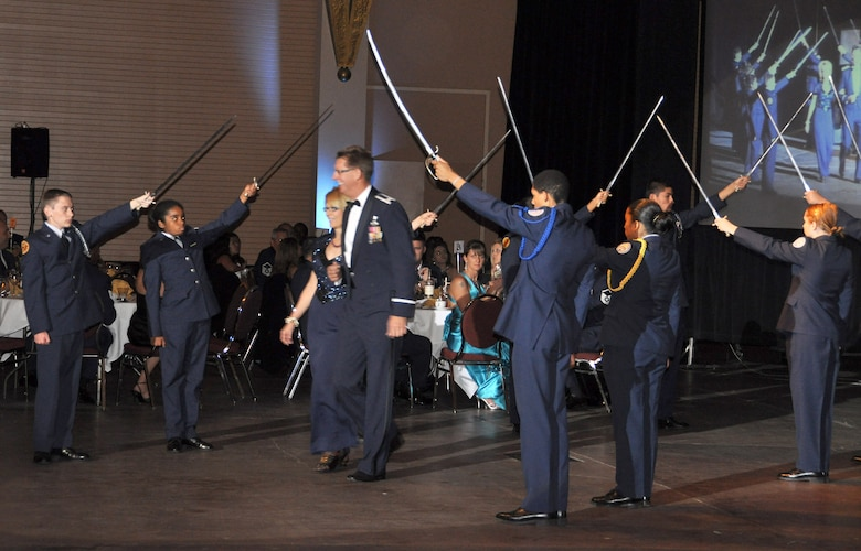 """""""Over There: March ARB Deployed"""" was the theme of this year's Military Ball at Raincross Square Riverside Convention Center.  (U.S. Air Force photo/Master Sgt. Michael Blair)"""