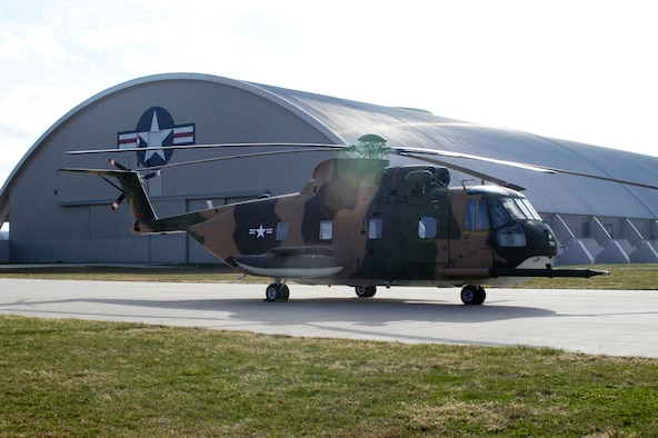 """DAYTON, Ohio -- Sikorsky HH-3 """"Jolly Green Giant"""" at the National Museum of the U.S. Air Force. (U.S. Air Force photo)"""