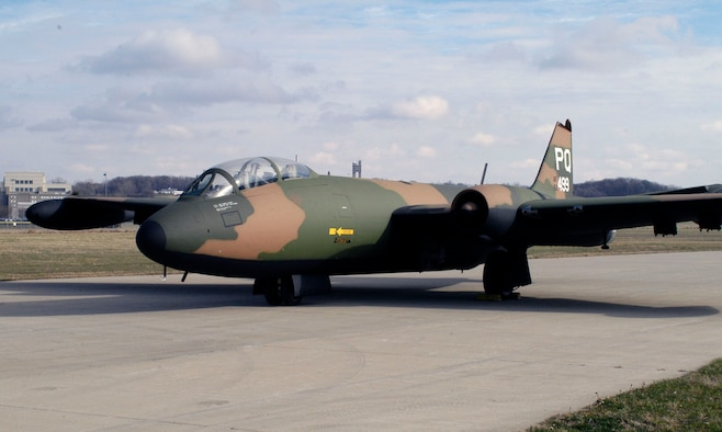 DAYTON, Ohio -- Martin B-57B Canberra at the National Museum of the United States Air Force. (U.S. Air Force photo)