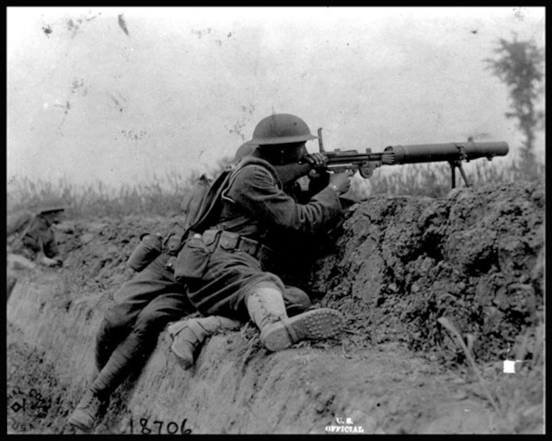 US Soldier in WWI.  (Courtesy of Wikipedia)