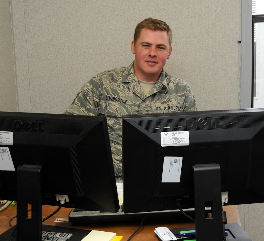 A1C Roger Livingston, 236th Intel Squadron, was awarded as the 118th AW Airman of the 3rd Quarter, Dec. 4.
