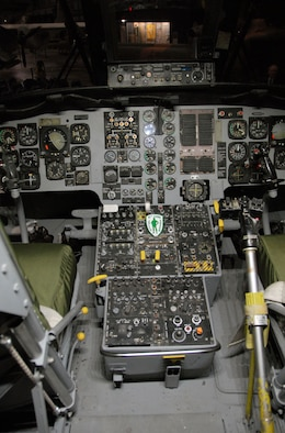 DAYTON, Ohio -- Sikorsky HH-3 cockpit at the National Museum of the United States Air Force. (U.S. Air Force photo)