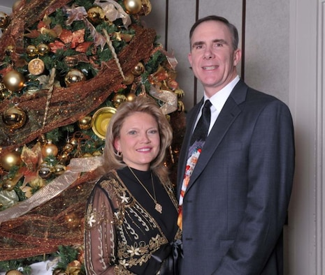 Maj. Gen. Robert H. McMahon and his wife Hope. U. S. Air Force photo by Gary Cutrell