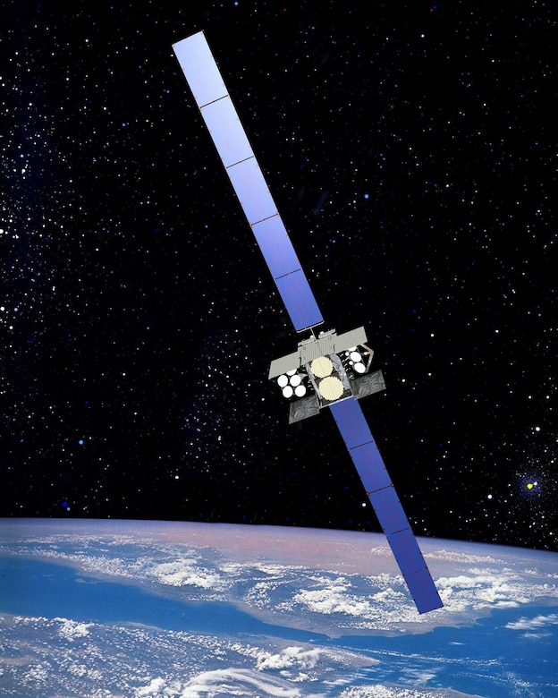 SCHRIEVER AIR FORCE BASE, Colo. -- An artist's rendering of a Wideband Global Satcom satellite. The 3rd Space Operations Squadron has been testing a satellite situational awareness tool known as Blue Force Status for the past two years using data collected from WGS satellites. (courtesy graphic)