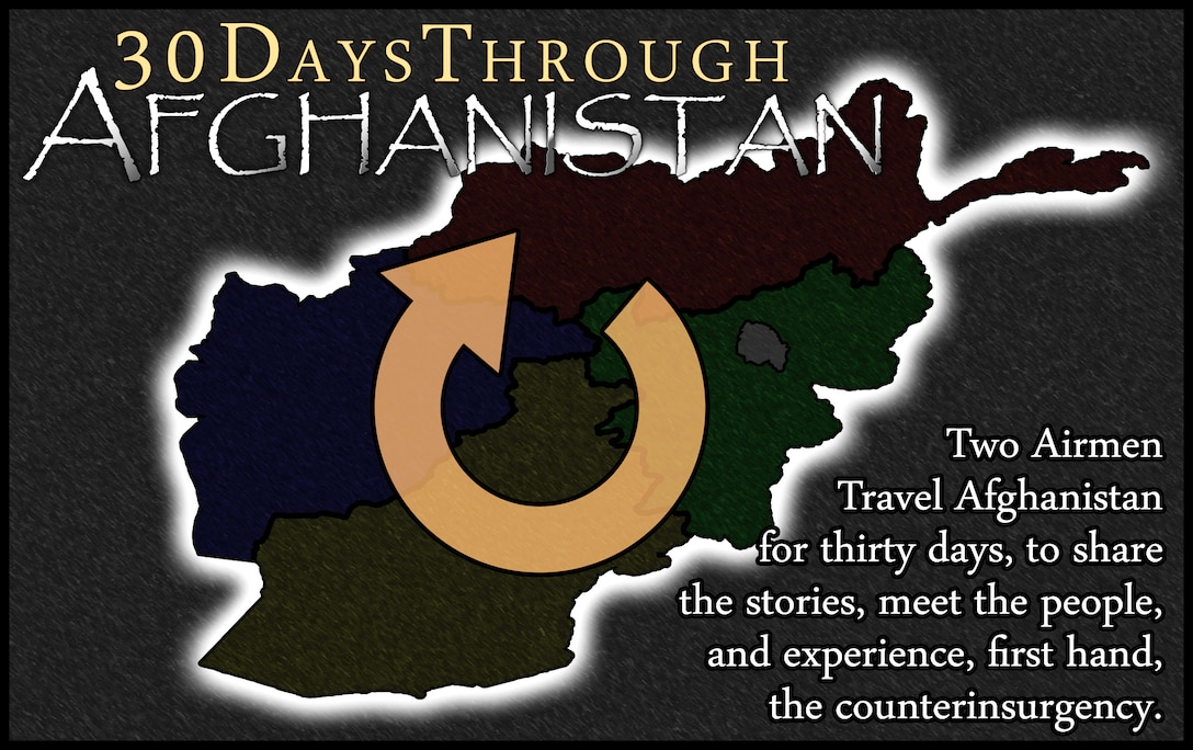 Two Air Force journalists will spend 30 days traveling throughout Afghanistan, starting Feb. 8, and document their daily travels through blogs and video blogs to showcase the troops in an interactive manner.  (U.S. Air Force graphic)