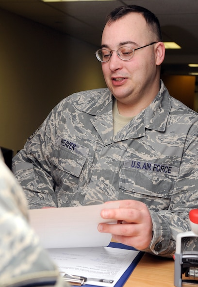 SPANGDAHLEM AIR BASE, Germany -- Staff Sgt. Patrick Weaver, 52nd Comptroller Squadron, is the 52nd Fighter Wing's Top Saber Performer for the week of Jan. 29-Feb. 4. (U.S. Air Force photo/Airman 1st Class Staci Miller)