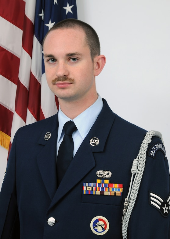 Senior Airman Joel Miller, a member of the 166th Maintenance Squadron, 166th Airlift Wing, New Castle, Del., is the Delaware Air National Guard's FY 2009 Honor Guard Member of the Year. Airman Miller, a resident of Newark, Del., is an aircraft metals technician in the 166th MXS. He deployed with his unit to Bagram Airfield, Afghanistan from Dec. 2009 to Jan. 2010 in support of Operation Enduring Freedom. Airman Miller is a member of the Delaware ANG Honor Guard, performing numerous ceremonies throughout the state. (U.S. Air Force photo/Senior Master Sgt. Gerald Dougherty, Delaware ANG)