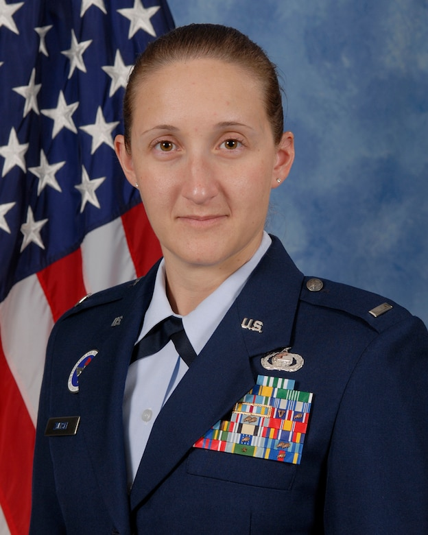1st Lt. Liane Zivitski, 315th Training Squadron is the 2009 Company Grade Officer of the year at 17th Training Wing, Goodfellow AFB, Texas. The annual awards program recognizes both civilians and members in 16 categories of the Air Force, Army, Navy and Marines who are assigned to the wing, for their significant contributions to the 17 TRW, the community and mission. (U.S. Air Force photo/ Lou Czarnecki)