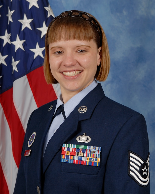 Tech. Sgt. Jennifer Klima, 315th Training Squadron is the 2009 Noncommissioned Officer of the Year for the 17th Training Wing, Goodfellow AFB, Texas. The annual awards program recognizes both civilians and members in 16 categories of the Air Force, Army, Navy and Marines who are assigned to the wing, for their significant contributions to the 17 TRW, the community and mission. (U.S. Air Force photo/ Lou Czarnecki)