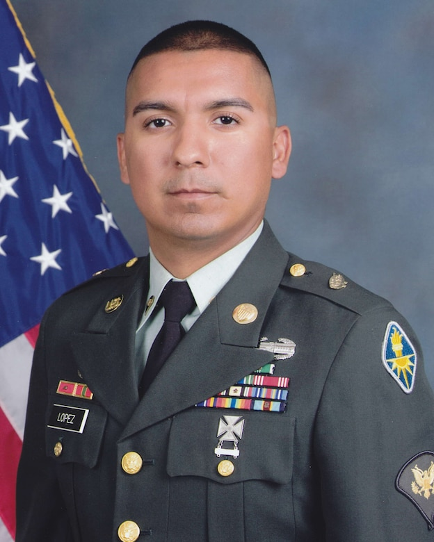 Cpl. Dennis Lopez, 344 Military Intelligence Battalion is the 2009 Army Soldier of the Year for the 17th Training Wing, Goodfellow Air Force Base, Texas. The annual awards program recognizes both civilians and members in 16 categories of the Air Force, Army, Navy and Marines who are assigned to the wing, for their significant contributions to the 17 TRW, the community and mission. (U.S. Air Force photo/ Lou Czarnecki)