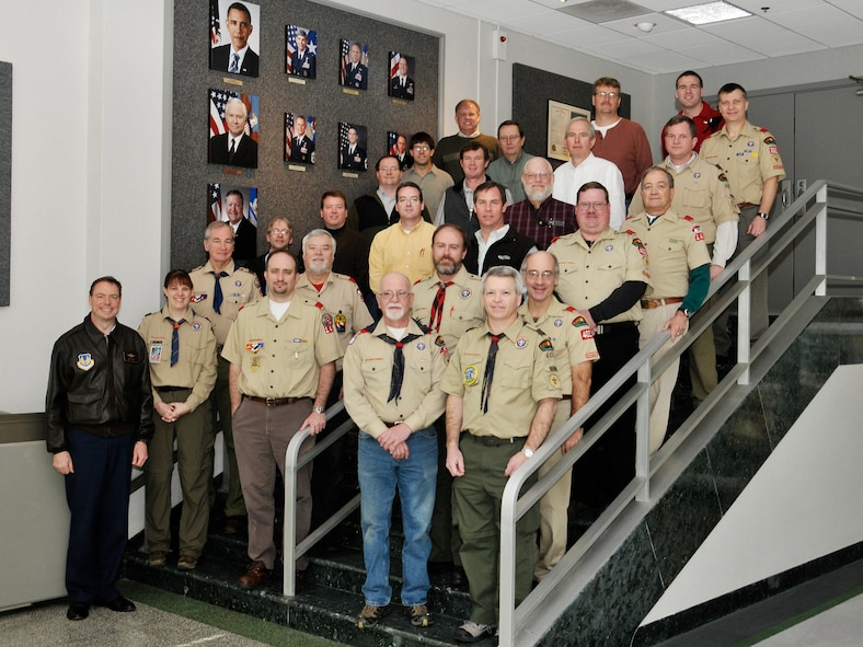 This is just a small representation of many Arnold Engineering Development Center personnel who are involved with local cub, boy and eagle scout troops in the surrounding counties. (Photo by Rick Goodfriend)