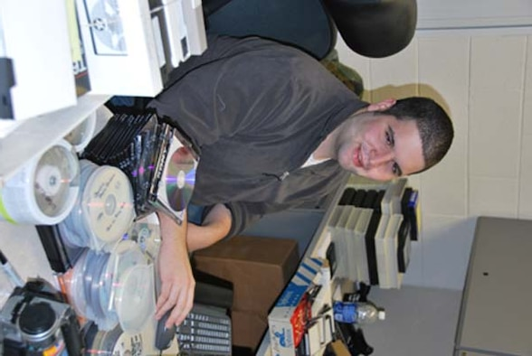 "Chris Dobbs, a student hire working for the 507th ARW Public Affairs office, just completed archiving the wing's video history ov DVD.  Since December Dobbs has converted video from ¾"", 8mm, Beta, and standard VHS tapes to DVD. Over 103 videos including footage from the World War II era to present day was converted. As a result, the complete collection will become part of the wing's historical archive. Furthermore, segments of this collection will be forwarded to AFRC and the Smithsonian."