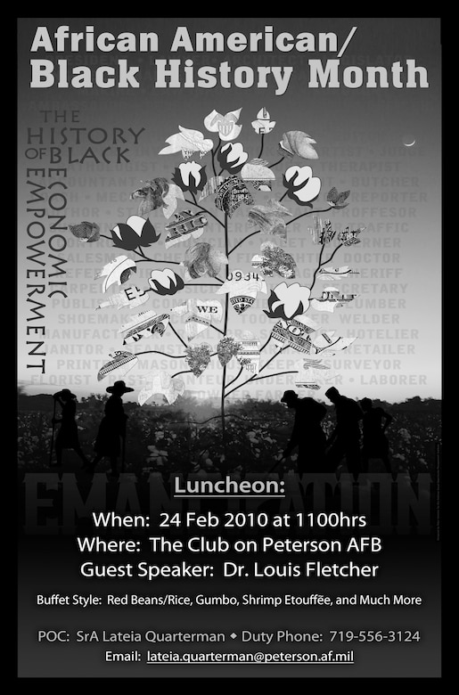 Peterson will be hosting a African American/ Black History Month luncheon on Feb. 24, 11 a.m., at the Club. (courtesy artwork)