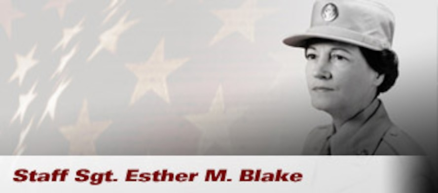 Staff Sgt. Esther M. Blake was the first woman to serve in the Army Air Forces. She signed up on the first minute of the first day that Air Force duty was authorized for women, July 8, 1948. (Photo courtesy Enlisted Heritage Research Institute)