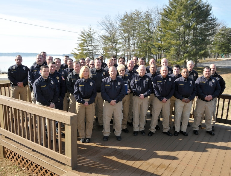 Arnold Air Force Base Police Officer Standards and Training certified officers. (Photo by Rick Goodfriend)