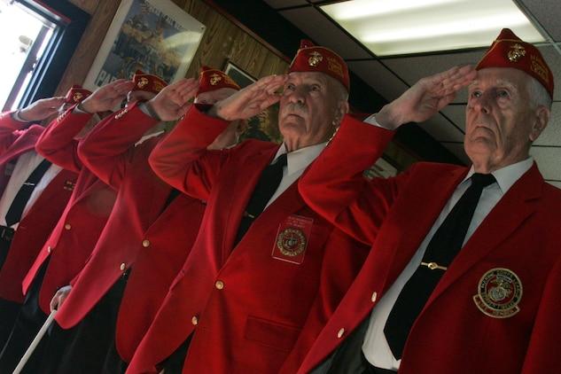 04065da4a2e595 Iwo Jima veterans came to the Marine Corps League Detachment 246 meeting  hall for a ceremony