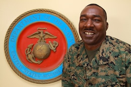 Sgt. Maj. James Roberts Jr., sergeant major of Headquarters and Service Battalion, U.S. Marine Corps Forces, Pacific, enlisted November 1980. After more than 30 years of service, Roberts plans to retire Sept. 1.