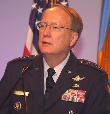 Lt. Gen. Frank G. Klotz, Commander of Air Force Global Strike Command, speaks at the Air Force Association conference in Orlando, Fla., Feb. 19.