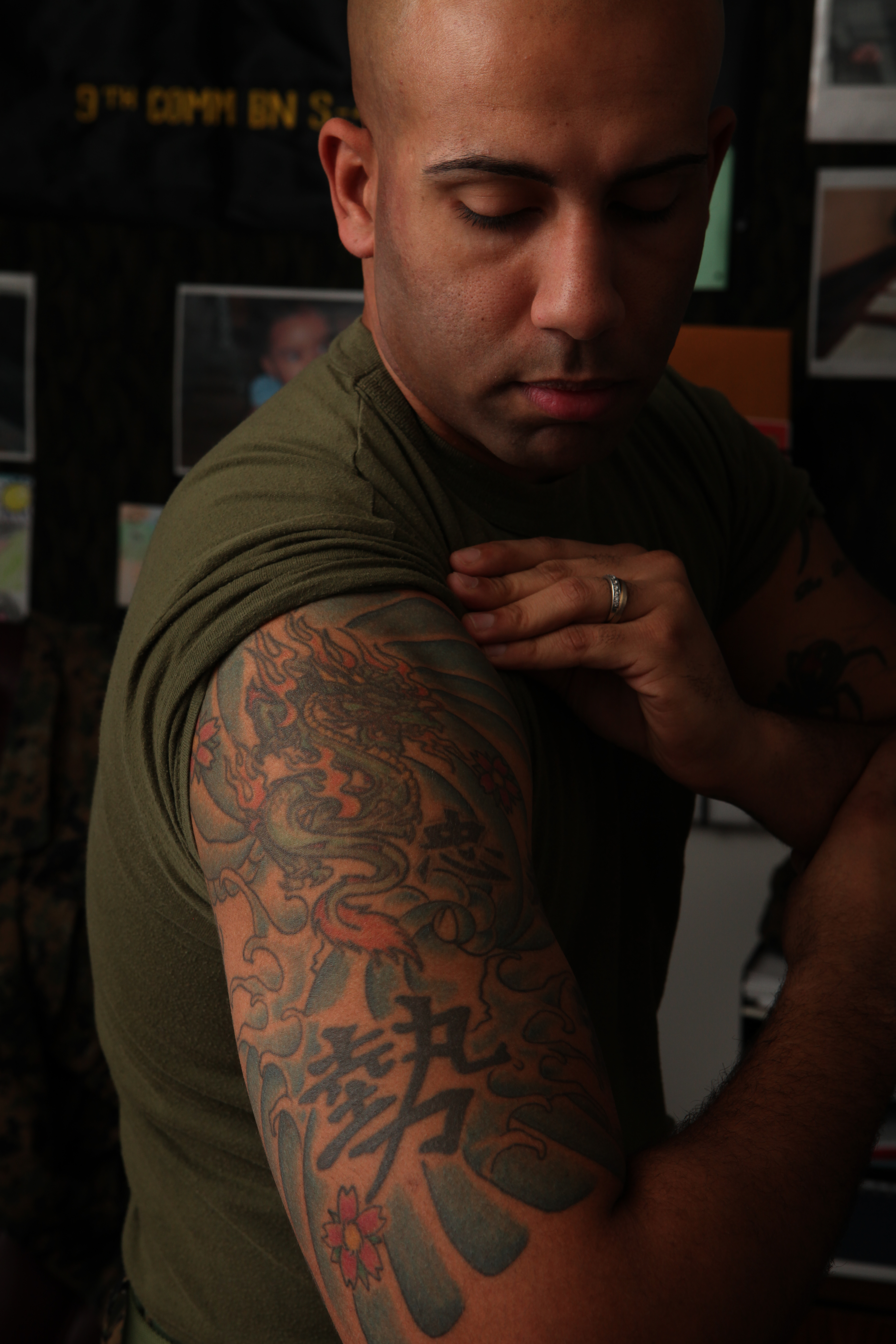 Corps cracks down on excessive tattoos headquarters for Marine tattoo sleeves