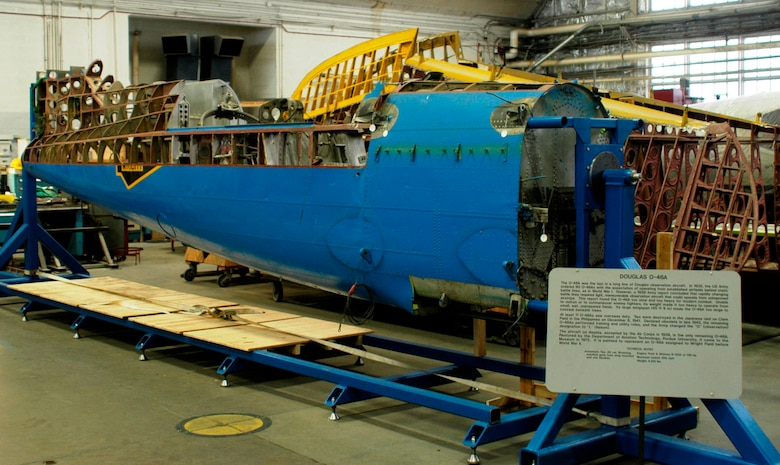 DAYTON, Ohio (02/2010) -- O-46A in the Restoration Hangar at the National Museum of the U.S. Air Force. (U.S. Air Force photo)