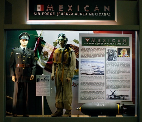 DAYTON, Ohio - The Mexican Air Force portion of the WWII: Airmen in a World at War exhibit in the World War II Gallery at the National Museum of the U.S. Air Force. (U.S. Air Force photo)