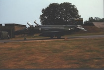 F-4 from the 183 TFW taxis at RAF Wildenrath, Germany.