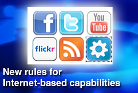 Department of Defense officials have released policy for responsible and effective use of Internet-based capabilities.  (U.S. Air Force graphic)