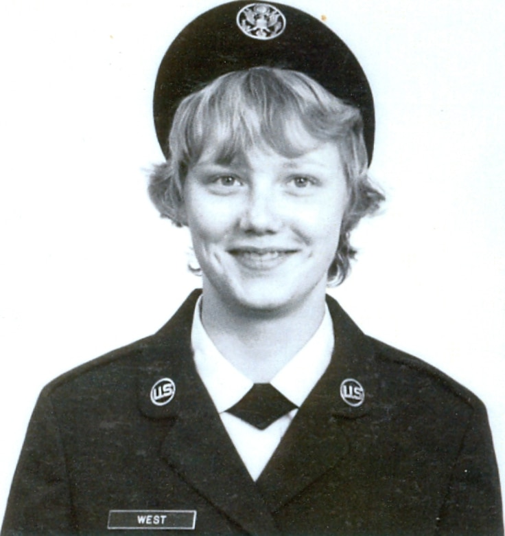 Airman Basic Brenda West sits for her official photo upon graduating from basic training at Lackland Air Force Base, Texas, in November 1974. At 18 West joined the Women's Air Force, or WAF, which was abolished in 1976 and women were accepted into the military on much the same basis as men.  1976 was the same year in which the United States Air Force Academy began accepting female cadets. (Courtesy photo)