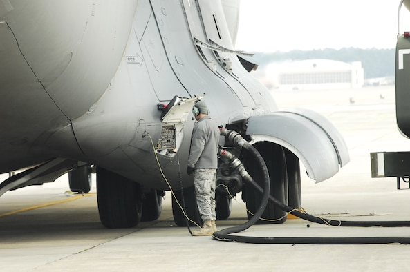 Petroleum, Oil and Lubricants and the 43rd LRS are key to preparing aircraft for mission success during Operation Unified Response. (Photo by Mike Murchison)