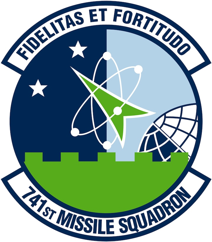 741st Missile Squadron (Color). Image provided by 5 BW/HO. In accordance with Chapter 3 of AFI 84-105, commercial reproduction of this emblem is NOT permitted without the permission of the proponent organizational/unit commander. Image is 7 x 7 inches @ 300 dpi