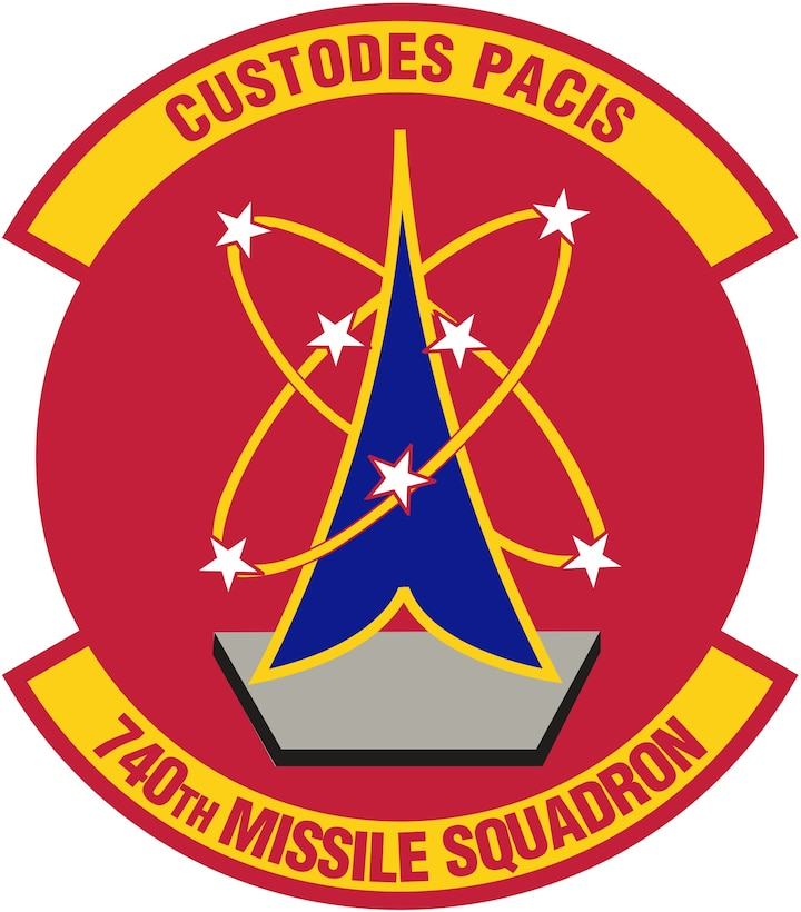 740th Missile Squadron (Color). Image provided by 5 BW/HO. In accordance with Chapter 3 of AFI 84-105, commercial reproduction of this emblem is NOT permitted without the permission of the proponent organizational/unit commander. Image is 7 x 7 inches @ 300 dpi
