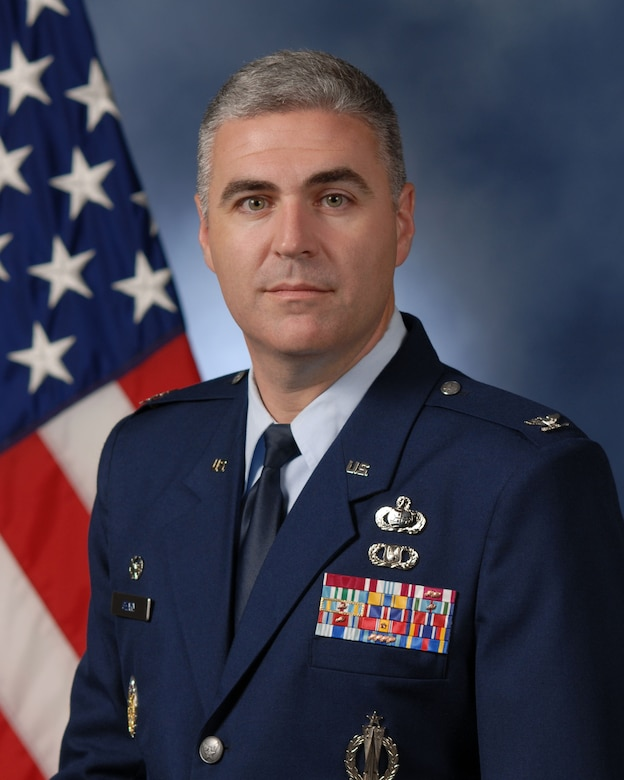 "Col. Thomas W. Geary, 17th Training Wing commander, Goodfellow AFB, Texas.  Goodfellow is an Air Education and Training Command base.  The mission of the 17th Training Wing is to ""Train World-Class Firefighting and Intelligence, Surveillance, and Reconnaissance Warriors."""