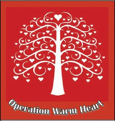 Operation Warm Heart  is an anonymous team of 'elves' who lighten the burdens of March Air Reserve Base families in need by giving holiday baskets filled with donated items.