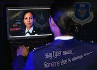 Cyberspace adversaries attack Department of Defense computer networks every day, and Air Force officials have a goal of protecting networks from attack. In August, Air Force Chief of Staff Gen. Norton Schwartz outlined steps the Air Force is taking to centralize this mission. (U.S. Air Force photo illustration)
