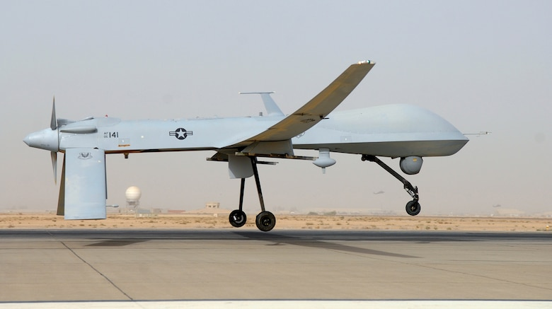 An Air Force MQ-1 Predator, like the one shown above, crashed in southern Afghanistan about 1 a.m. Kabul time Jan. 15. The crash was not due to hostile fire. (U.S. Air Force photo/Senior Airman Julianne Showalter)