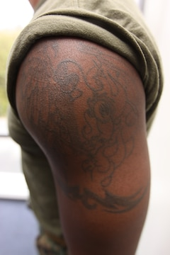Corps amplifies tattoo policy marine corps base camp for Marine corp tattoo policy