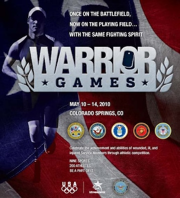 The inaugural Warrior Games will be in Colorado Springs, Colo., May 10 to 14. (U.S. Air Force graphic)