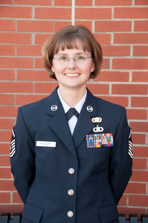 Master Sgt., Susan McGarry, is awarded Senior NCO of the year at the 139th Airlift Wing.