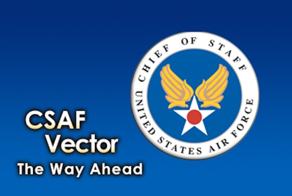 "Air Force Chief of Staff Gen. Norton Schwartz releases his ""CSAF Vector."" (U.S. Air Force illustration/Nick Medrano)"