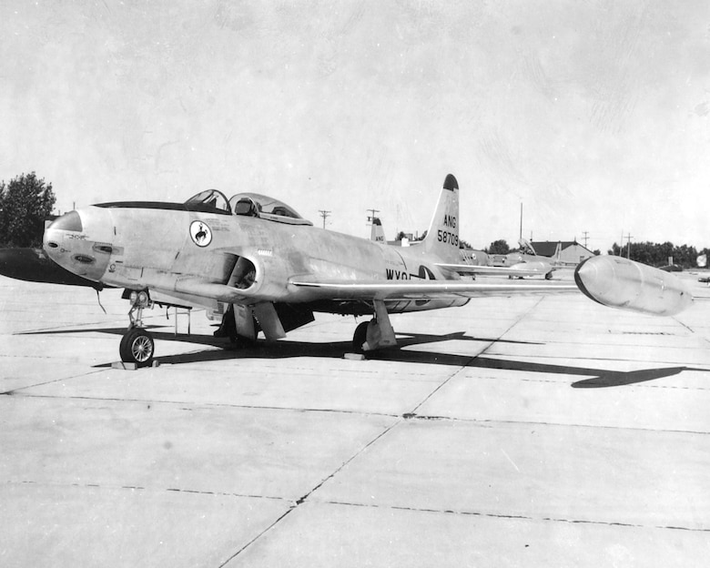 "F-80C ""Shooting Star"" flown from 1953 - 1957"