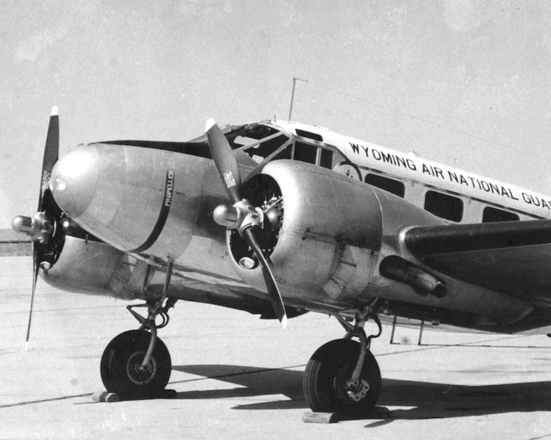 "C-45 ""Expiditor"" flown from 1953 - 1961"