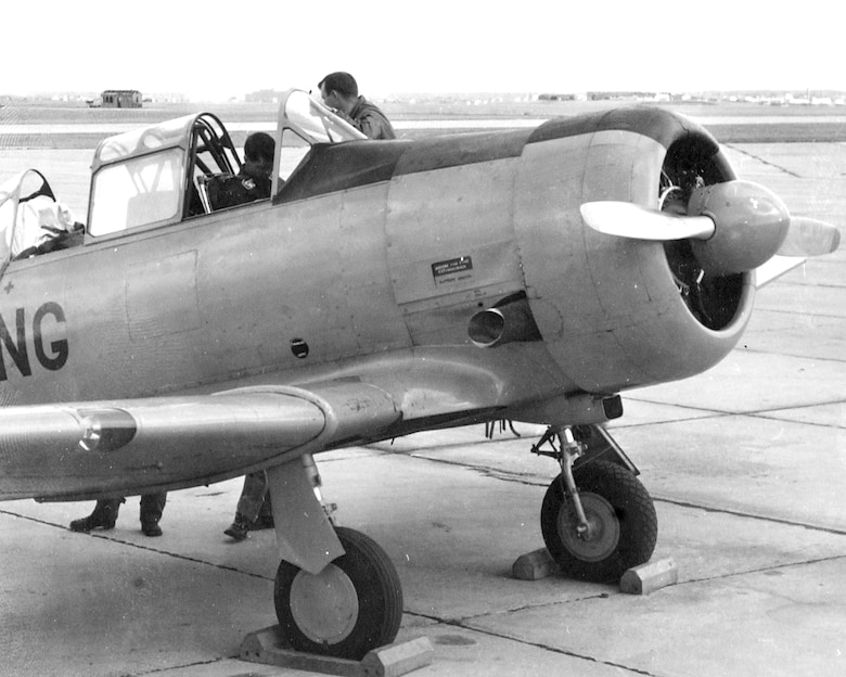 "T-6 ""Texan"" flown from 1946 - 1952"