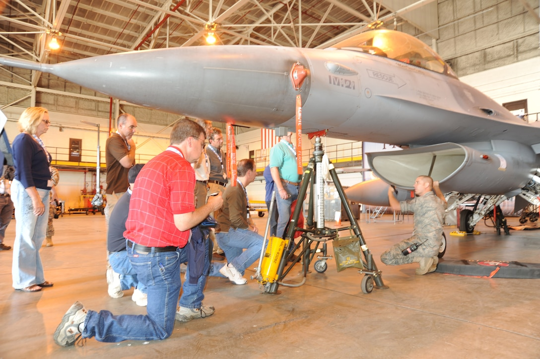 Members of the Colorado Air National Guard showcased 140th Wing capabilities to their employers at Buckley AFB, Colo. July 10. This day was part of the Employers Support of the Guard and Reserve program.