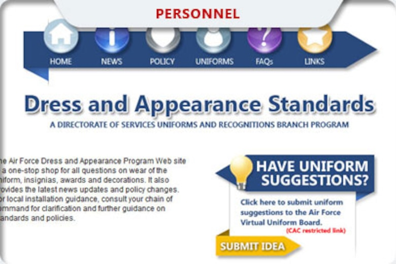 The Air Force launched a new public website this month to help educate and inform Airmen about the service's dress and appearance standards and policies.