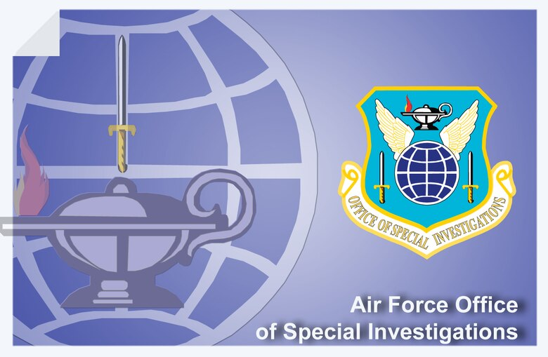 Air Force Office of Special Investigations web banner. (U.S. Air Force graphic by Andy Yacenda, Defense Media Activity-San Antonio)