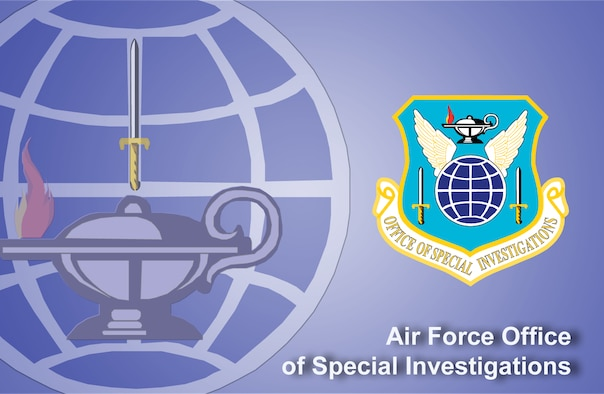 Air Force Office of Special Investigations fact sheet banner. (U.S. Air Force graphic by Andy Yacenda, Defense Media Activity-San Antonio)