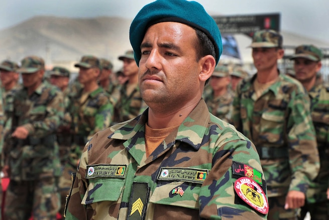 u s department of > photos > photo essays > essay view four hundred afghan national army noncommissioned officer recruits take the enlistment oath during a ceremony on